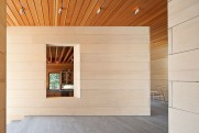 East House Alaskan Yellow Cedar kitchen wall